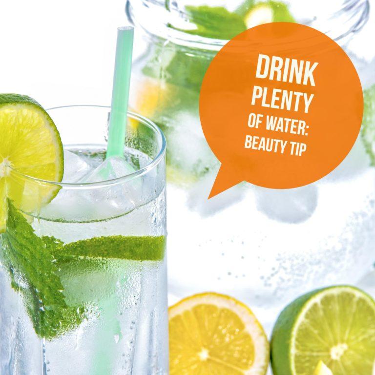 prevent dehydration drink water beauty tip