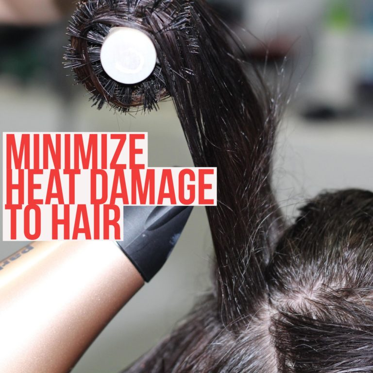 avoid heat damage to hair when styling hair