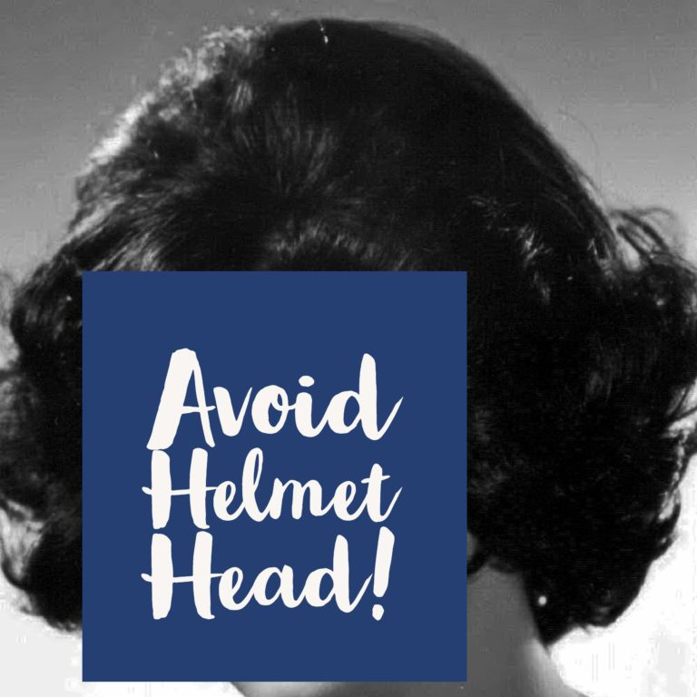 avoid helmet head with hairspray