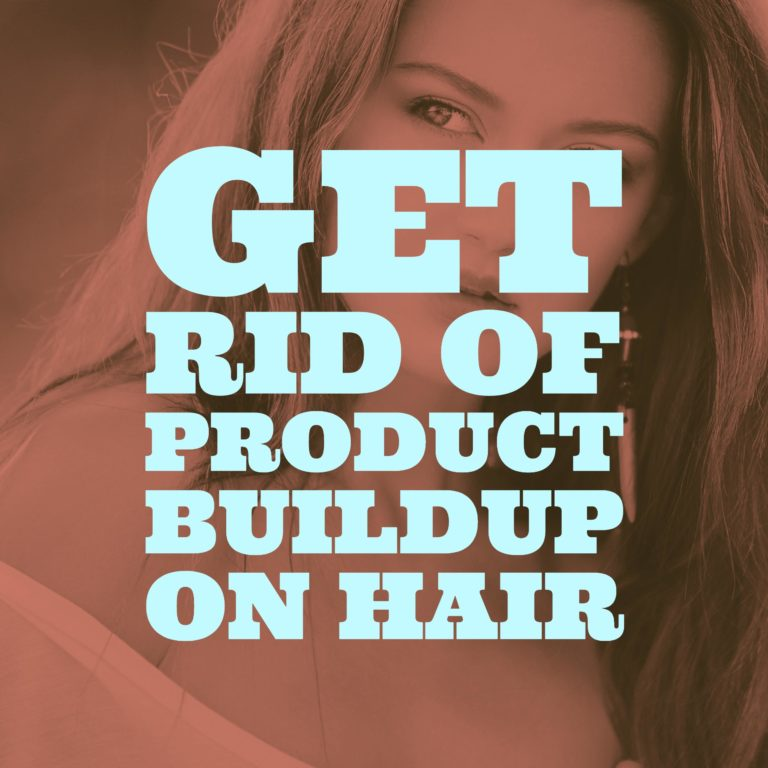 get rid of product buildup on hair