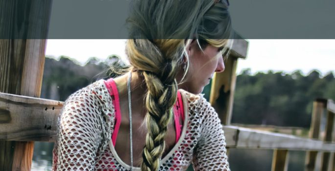 smoothing a braid hair tips