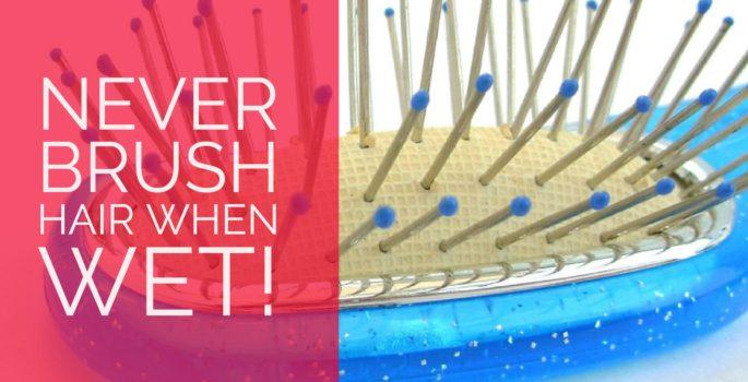 never brush wet hair hair tips from salon in destin