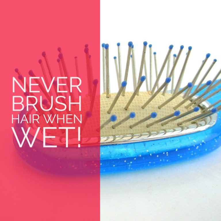never brush wet hair hair tips from salon in destin
