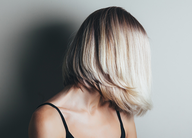 blonde bob hairstyle full color highlights